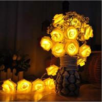 8 Color Night Light 20 x LED Novelty Rose Flower Fairy Strin...