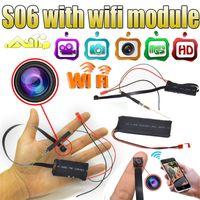5pcs / lot Caméra S06 1080P Mini Surveillance de sécurité IP sans fil Module Caméra Vidéo Wifi P2P DIY Mini DV DVR Pour PC Tablets Smartphones