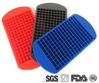 Новые прибытия Экологически чистые продукты питания Класс 160 Полость Силиконовые Ice Cube Tray Mini Кубики льда Малый квадрат Mold Льдогенератор