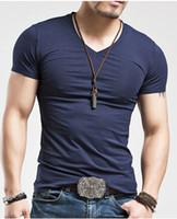 Men' s Tops Tees 2016 summer new cotton V - neck short sl...