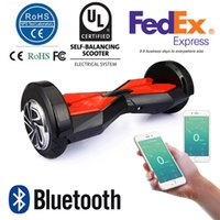 8 pouces Smart Balance Wheel Bluetooth Hoverboard deux roues Self Balance Roue Scooter Remote Led Lights APP Control UL2272