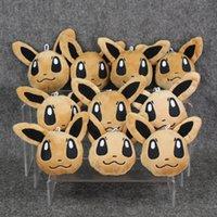 9cm Anime Poke Eevee keychain Pendant Plush Soft Doll Toy fo...