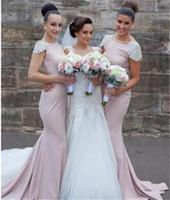 2016 Tarik Ediz Mermaid Bridesmaids платья Блестки атласная Длинные горничной честь Свадебные платья партии скользящим шлейфом Платья для подружек невесты