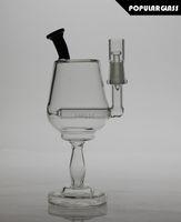 19cm Verre haut Diffusion des plateformes pétrolières Verre à vins en verre bongs Tuyau en verre pour fumer l'eau Joint taille 14.4mm SL15061