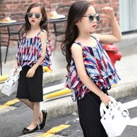 Summer Big Girls Clothes Fashion Chiffon Korean Children Clo...