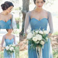 A Line Strapless Long Bridesmaids Dresses 2016 Pleated eveni...