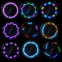 14 RGB Colorful LEDs MTB Bicycle Wheel Light Cycling Mountai...