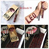 в наличии 24 комплектов Дженнер LIP KIT LEO День рождения Издание Matte Lipstick Liner IKylie Дженнер Cosmetics Lip Leo День рождения Edition,