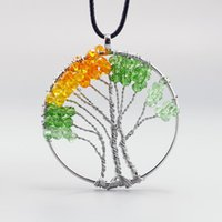 Hot Selling New Fashion Simple Creative life tree crystal ne...