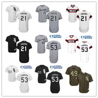 2016 Stitched Jersey Chicago white Sox 21 Todd Frazier Baseb...