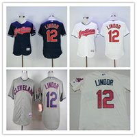 #12 Francisco Lindor Baseball Jerseys Cleveland Indians Cool...