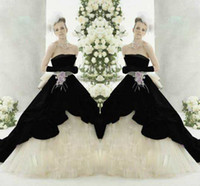 Breaktaking Wedding Dresses Black and White wedding gowns St...
