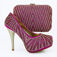 Hot Style African Rhinestone Pumps Shoes And Bag Sexy Italia...