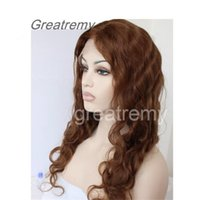 Greatremy Lace Front Wig Color #4 Body Wave 100% Brazilian H...
