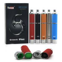 Комплекты Сигаретные Аутентичные Yocan Evolve Plus Kit 1100mAh батареи Кварц Dual Coil ППЭС E Все 5 цветов на складе