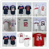 Wholesale Francisco Lindor Jersey 12 baseball Jerseys 22 Jas...