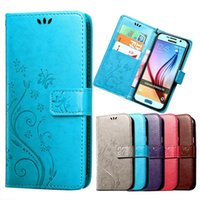 3D Flower Flip PU Leather Case for For Samsung Galaxy S6 edg...