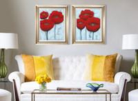 Красивые цветы ручной росписью в современном стиле гостиной спальни исследования тротуара холст масло густое масло нож покраска JL402