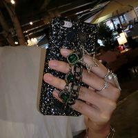 i7 i7 plus Case Black Bling Glitter Metal Rope Diamond Case ...