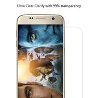 Pour Samsung Galaxy S7 Protecteur d'écran HD Full Coverage 0.3mm Bordure courbée vers Edge Verre trempé Anti-Scratch Anti-Fingerprint Bubble Free