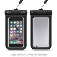 Vendedora caliente del teléfono inteligente a prueba de agua caja del filtro de pantalla transparente táctil del teléfono móvil cubierta de bolsa para iphone7 / 7s / 7 más