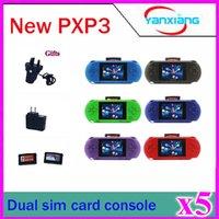 5pcs Consoles de jeux vidéo portables avec de nombreux jeux portatifs classiques joueur PXP3 SEGA 16-bit ZY-PXP3