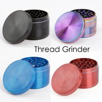Discussion authentique Grinders en alliage de zinc Matériel 63mm Métal Grinders 4 couches 9 couleurs disponibles Herb Grinders VS sharpstone Grinders