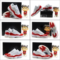 (With shoes Box) Hot Sale Retro 11 XI low Cherry Varsity Red...