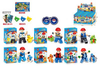 Poke go minifigures DIY Building Blocks 6 style New children...