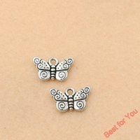 100pcs Vintage Butterfly Charms Pendants For Jewelry Making ...