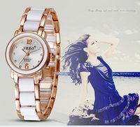 10 Color Gold and Silver Dial Fashion Girl Geneva Wrist Watc...
