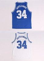 Jesus Shuttlesworth 34 Basketball Shirt, White And Blue Free...