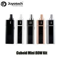 Authentic Joyetech Cuboid Mini Kit 80W VW Temperature Control Box Mod 2400mAh batterie intégrée Top remplissage de contrôle du flux d'air 5ml atomiseur
