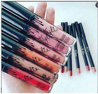 En stock Kylie Lip Kit de Kylie Jenner Lápiz labial Kylie Set con labial Eyekiner Brillo líquido Pintalabios Matte 22 Colors Lipliner
