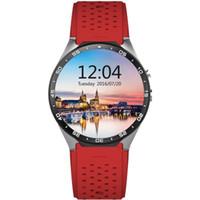 KingWear KW88 Android 5.1 1.39 pouces Amoled écran 3G Smartwatch Téléphone MTK6580 Quad Core 1.39GHz 512 Mo RAM 4 Go ROM GPS gravité capteur 1B
