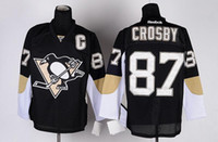 Pittsburgh Sidney Crosby #87 Black Home Penguins Stitched Nh...
