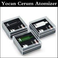 Autnentic Yocan Cerum Форсунка Полный керамический Воск Испаритель с запасными Кварц Dual ППЭС Coil клон подходят Evolve Plus Battery Box модов