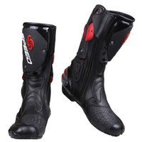 Bottes gros PRO-BIKER SPEED BIKERS Moto Moto Racing Motocross Off-Road Moto Chaussures Noir / Blanc / Rouge Taille 40/41/42/43/44/45