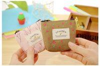 Cotton Canvas Clutch Purse Handbag Pocket Coin Purse Cosmeti...