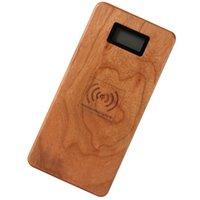 Natural 2 in 1 Wooden QI Wireless Charging Mobile Power 1200...
