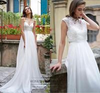 Elegant Wedding Dress 2017 A Line Spaghetti Strap Wedding Dr...
