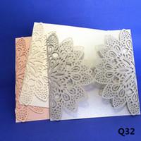 Petal shape wedding invitations shinning party decoration ca...