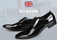 Fashion Hot New Genuine leather shoes Patent leather dress s...