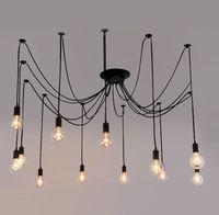 Самые дешевые Vintage Эдисон Люстра Эдисон Мягкий свет подвеска мягкая подвеска лампа Art промышленный светильник проводная Light # 01