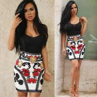 Summer Women Package hip Dress printed braces skirt Sexy Clu...