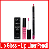 NEW Qibest Lip Gloss Lipstick 1 Lip Gloss + 1 Lipliner Matte...