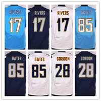 NIK Elite Football Stitched Chargers 17 Rivers #85 Gates 13 ...