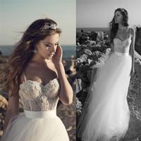 Cheap Julie Vino Lace Summer Beach Wedding Dresses Spaghetti...