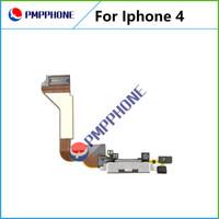 Noir Port de charge Dock Connector Câble Flex pour Port Chargeur iPhone 4 USB avec Flex câble