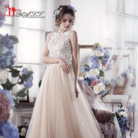2017 New Champagne Wedding Dresses Vintage Romantic A- Line T...